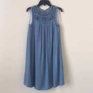 Altar'd State Boho Crochet Top Swing Dress